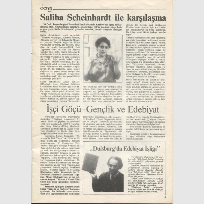 dergi/Die Zeitschrift