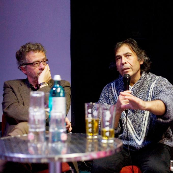 Christian Esch (NRWKS) und Uri Bülbül (Katakomben-Theater)