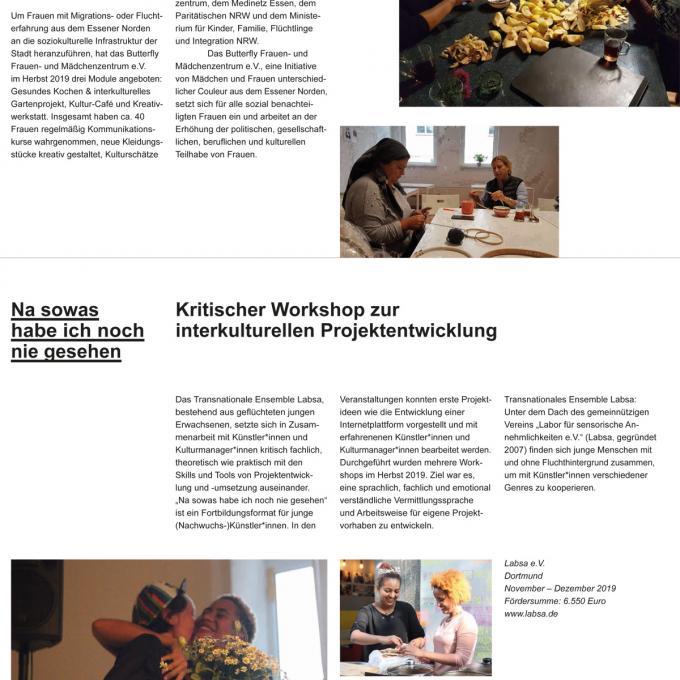 Dokumentation Förderfonds Interkultur Ruhr 2019
