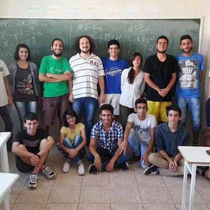 Class with students