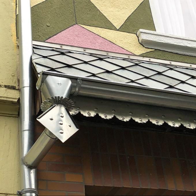 Hausfassade in der Schleswiger Straße, Detail