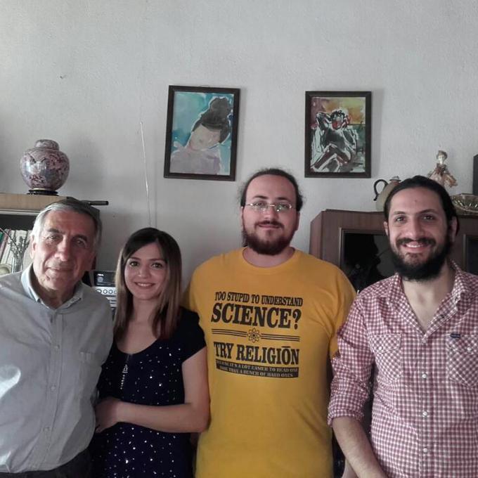 From left to right: Hasan Atrash, Shurouq Zaitoun, Raed Shaiia and Ammar Atrash, spring 2017