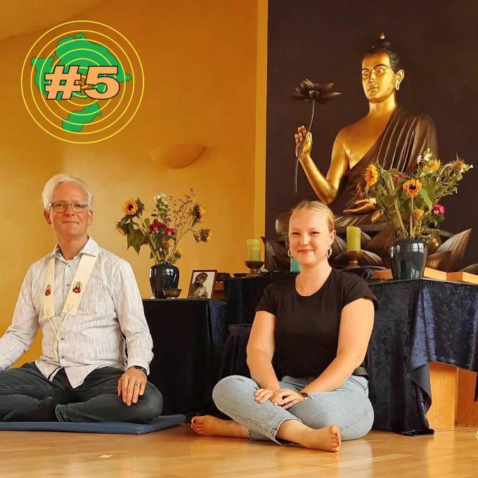 Dharmadeva und Olga Felker im Buddhistischen Zentrum Essen