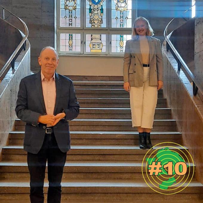 Olga Felker mit Bernd Tischler, Oberbürgermeister der Stadt Bottrop