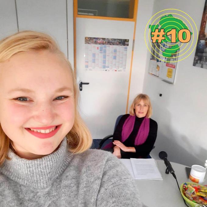 Olga Felker mit Ksenija Sakelšek, Vorsitzender des Integrationsrats in Unna. Foto: Olga Felker