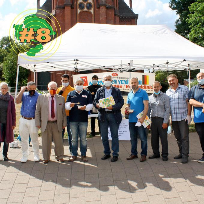 Mehmet Bingöllü und Gemeindemitglieder der Yeni Camii Moschee Altenessen am Aşure-Tag 2020