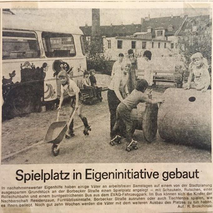 Zeitungsausschnitt von 1974