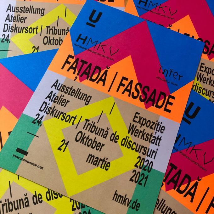Ausstellungsflyer Faţadă / Fassade