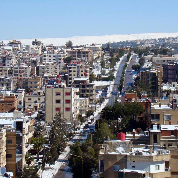 Nothern part of Al-Suwayda, showing Tal al Bajaa in the back