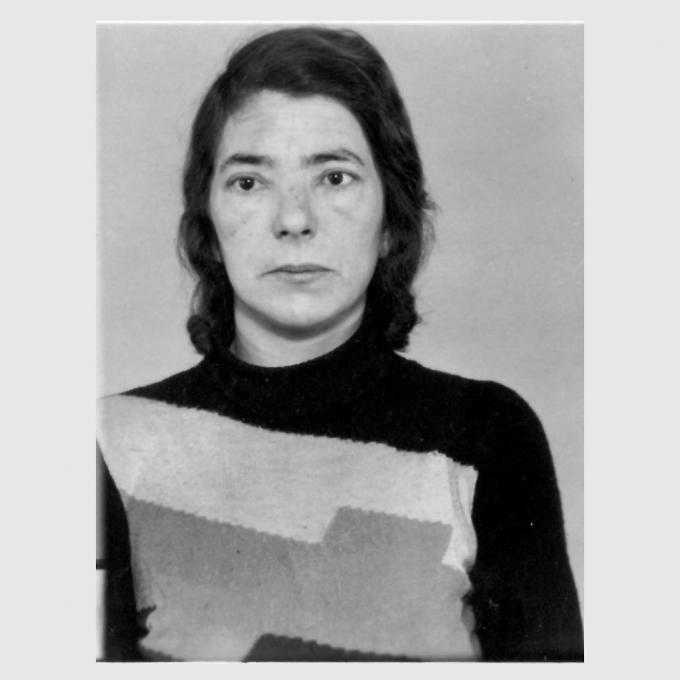 Selma Atsch, Erzwungenes erkennungsdienstliches Foto der Polizei Duisburg, 1943. Landesarchiv NRW – Abteilung Rheinland – BR 1111 Nr. 32