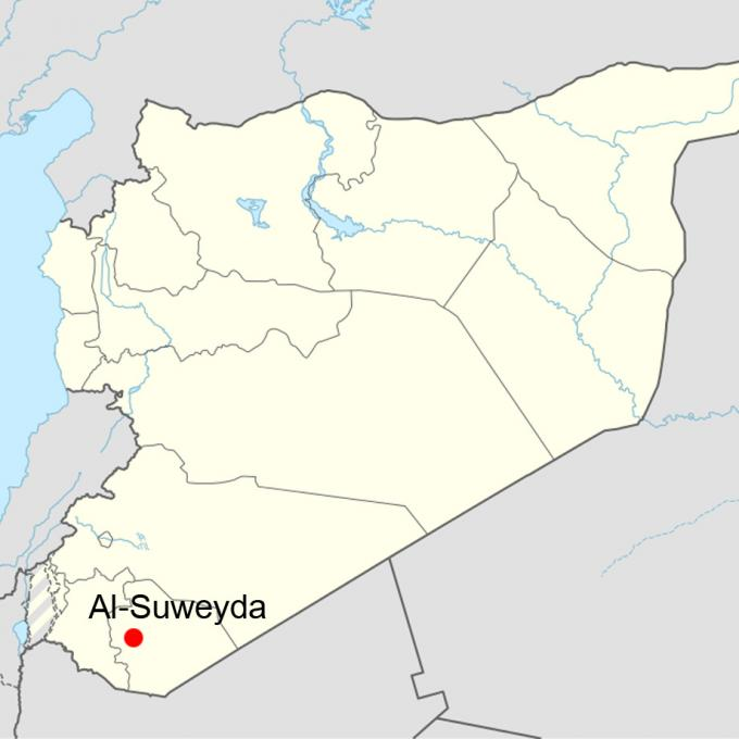 Syria location map