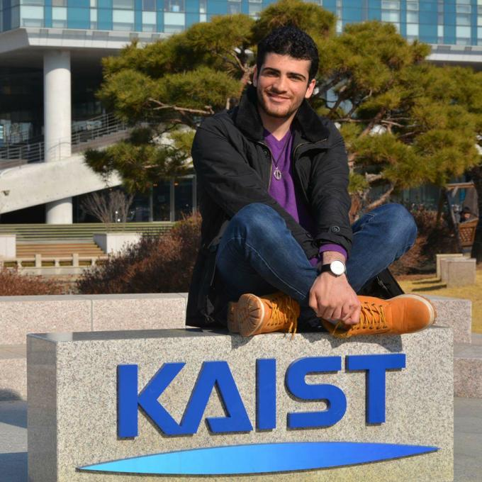 Osama Karkout at KAIST University, Daejeon, South-Korea