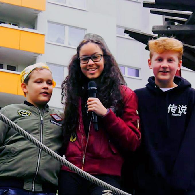 Reporter Luka, Amira und Louis