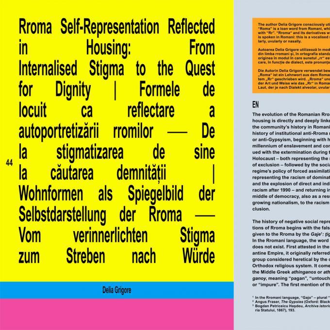 Magazin zur Ausstellung Faţadă / Fassade, hmkv 2021