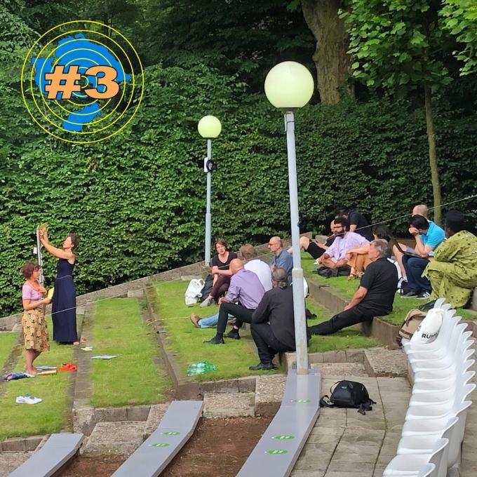 Netzwerktreffen Interkultur Ruhr: Workshop zum Thema Sichtbarkeit, mit Miriam Witteborg und Johanna-Yasirra Kluhs. Foto: Guido Meincke