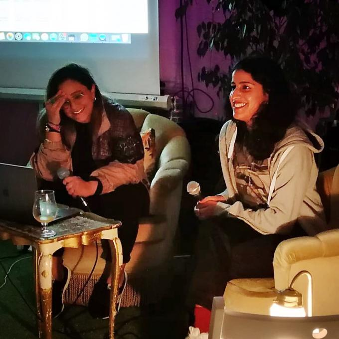 Hiba Salameh und Banafshe Hourmazdi bei OFF THE RECORD, Listening Session 2019. Foto: atelier automatique