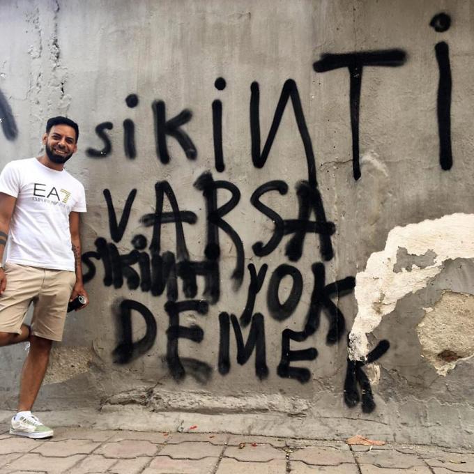 """Hassan Adzaj in Bulgarien: """"Wenn es ein Problem gibt, sag nicht es wäre nicht da"""". Foto: Hassan Adzaj"""