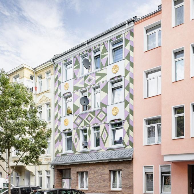 Fassadengestaltung in der Schleswiger Straße 31. Foto: Christian Huhn