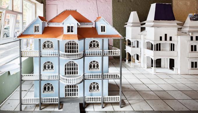 Hausmodelle in der Werkstatt Mallinckrodtstraße