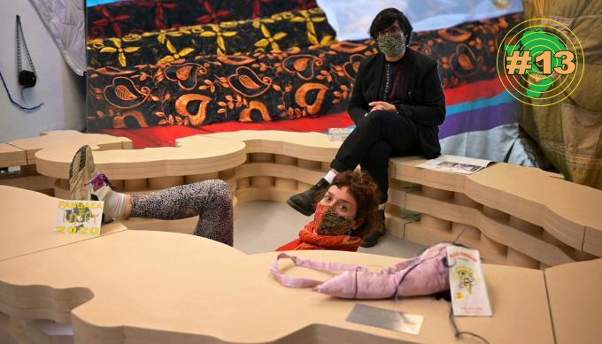 Johanna-Yasirra Kluhs und Fabian Saavedra-Lara in den Pangaea Studios, Dortmund 2020. Foto: Lisa Domin