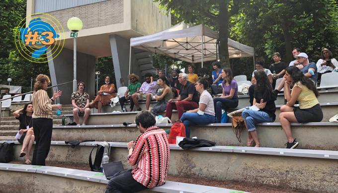 Netzwerktreffen Interkultur Ruhr: Workshop zum Thema Netzwerke, mit Stefanie Reichart, Fabian Saavedra-Lara und Antje Deistler. Foto: Guido Meincke