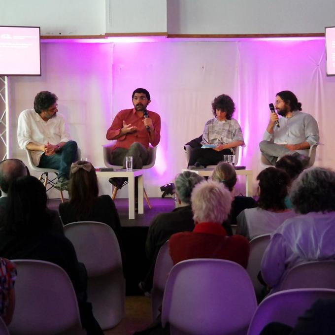 Extra-Podium bei den 63. Internationalen Kurzfilmtagen Oberhausen. Foto: Guido Meincke
