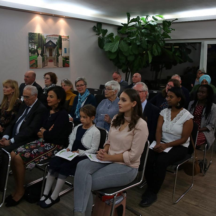 Feier zum 200. Geburtstag des Bab 2019 im Baha'i Zentrum Essen