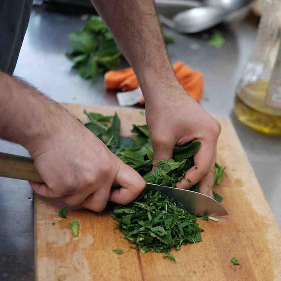 Gemeinsames Kochen mit der Refugees' Kitchen