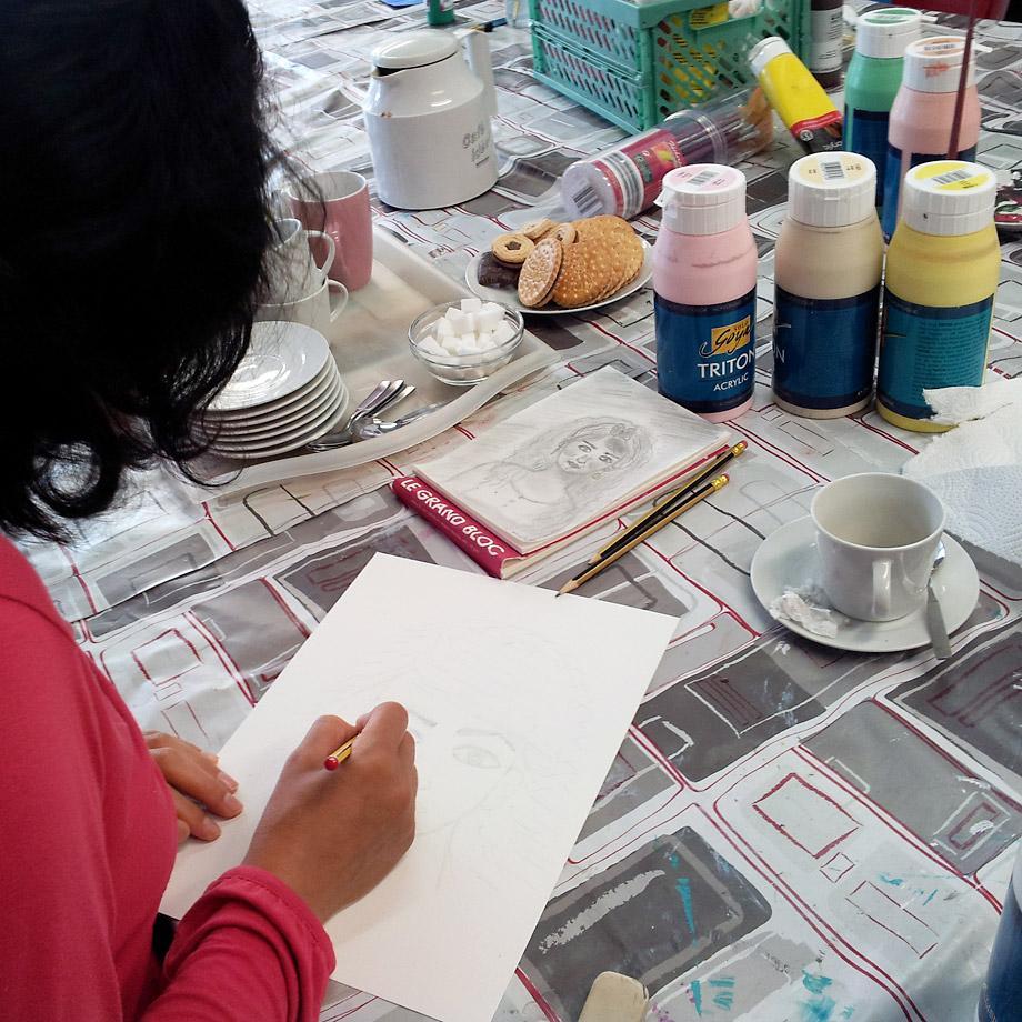 Frauen malen