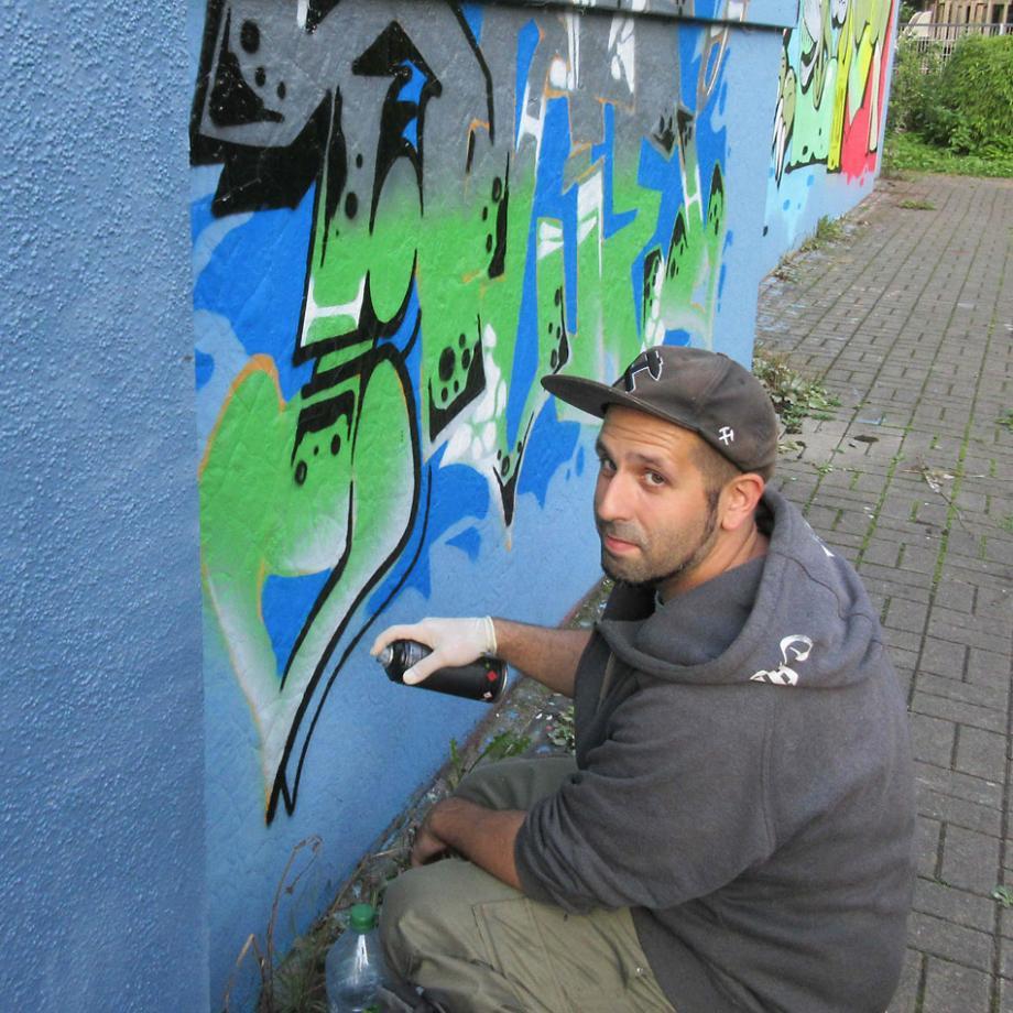 Graffitiworkshop mit Mauriczio Bet