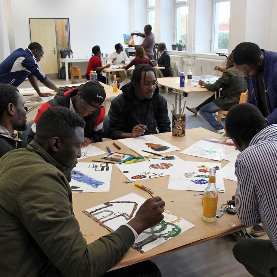 Workshop mit Aimé Mpane