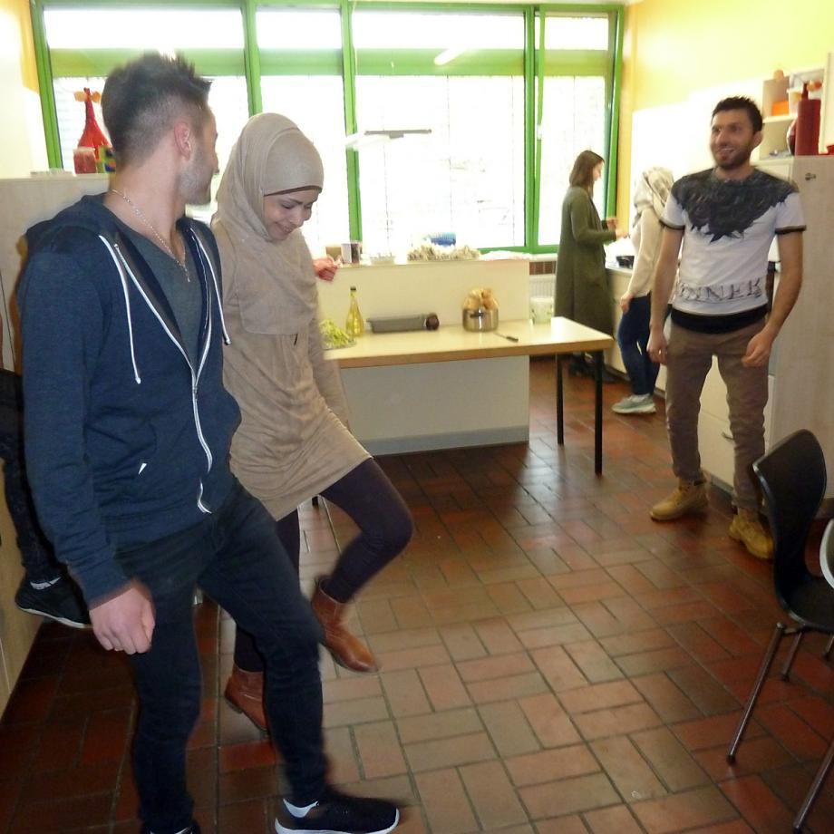 Tanzen beim Kochworkshop