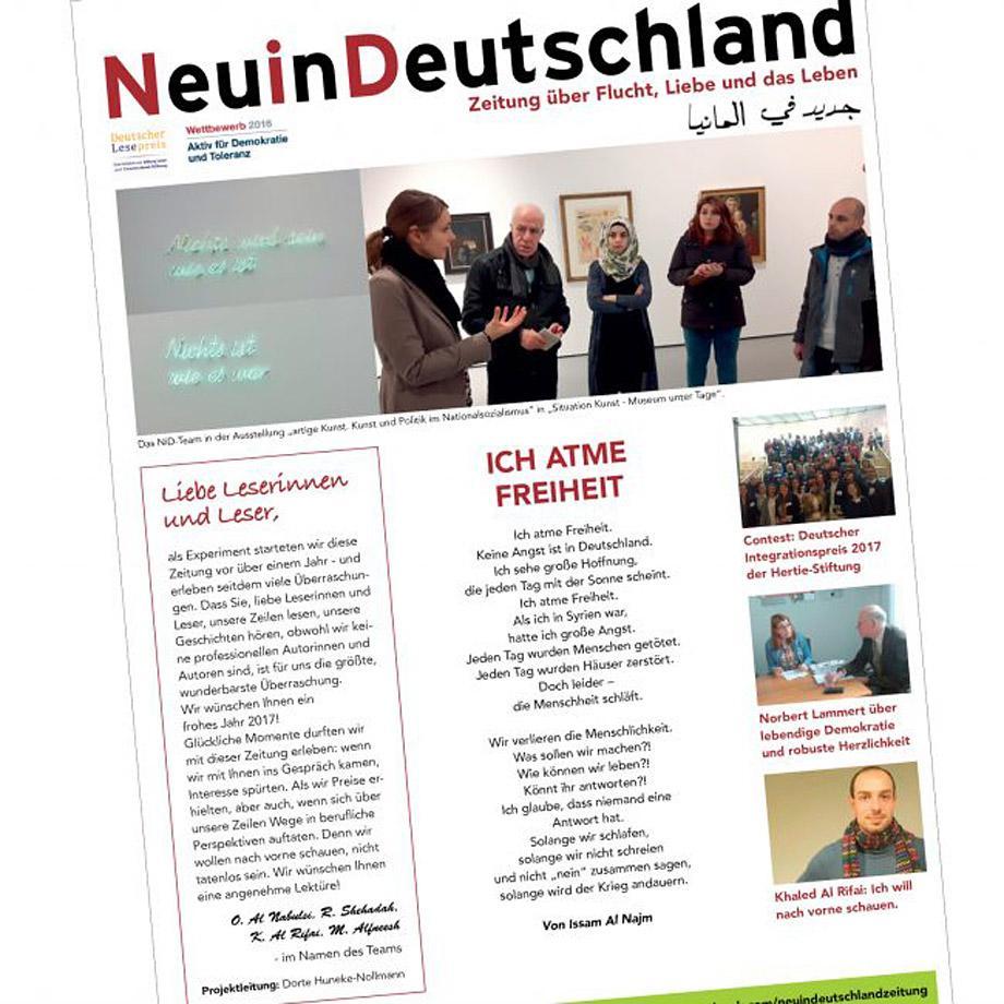 Zeitung Neu in Deutschland