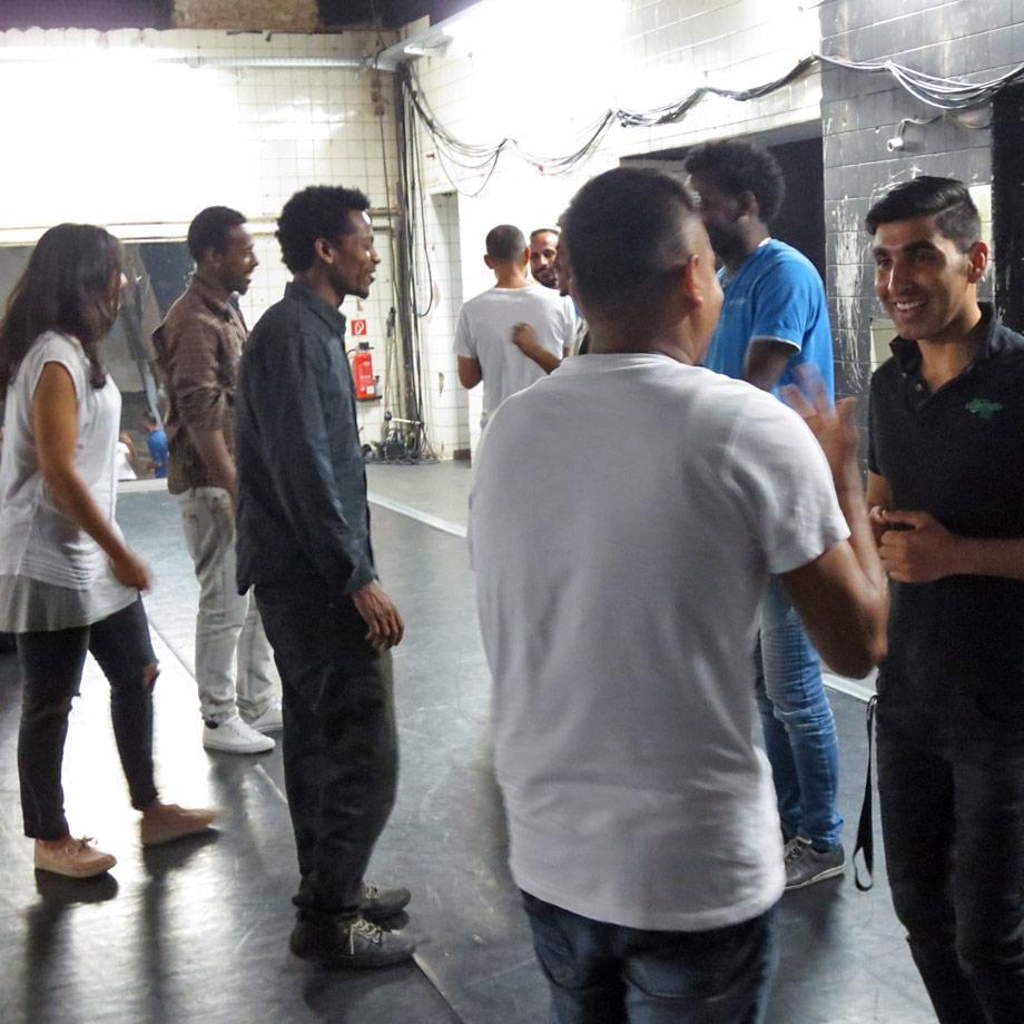 Begegnungen bei der Theaterarbeit