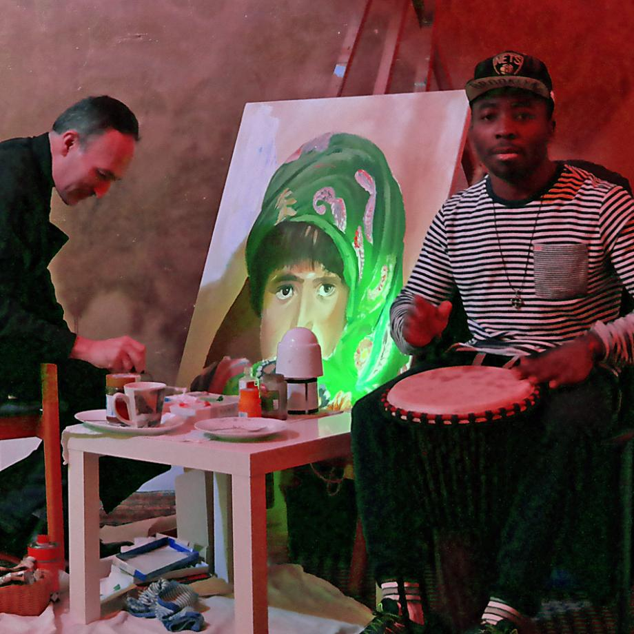 Live-Painting mit Sultan Khairandish