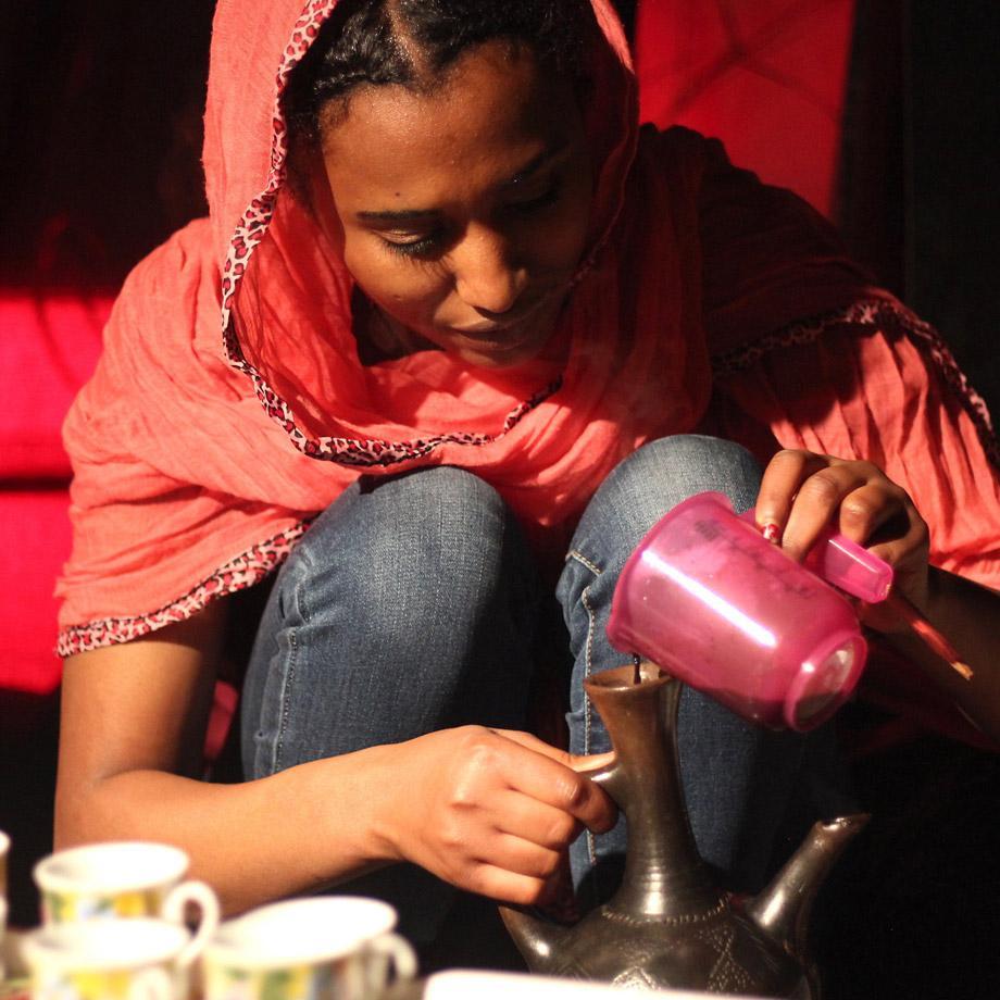 Eritreische Kaffeezubereitung