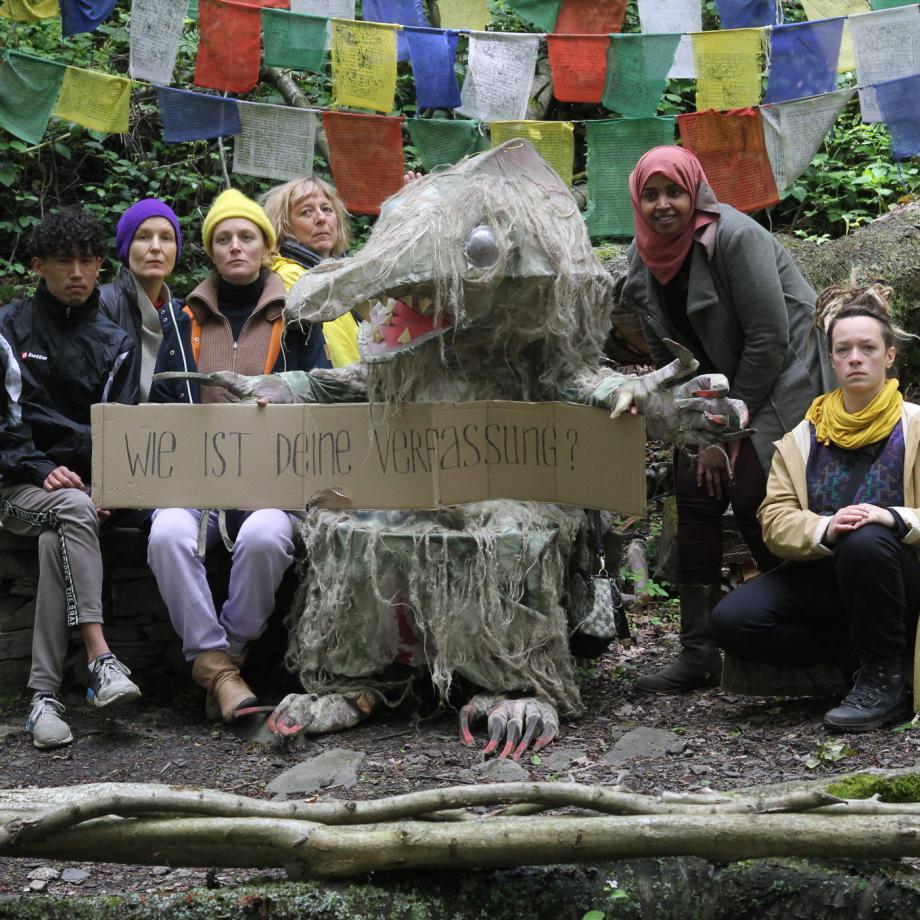 Exkursion nach Avalania: Transnationales Ensemble Labsa meets Money Mouse von Stefanie Oberhoff. Foto: Betty Schiel