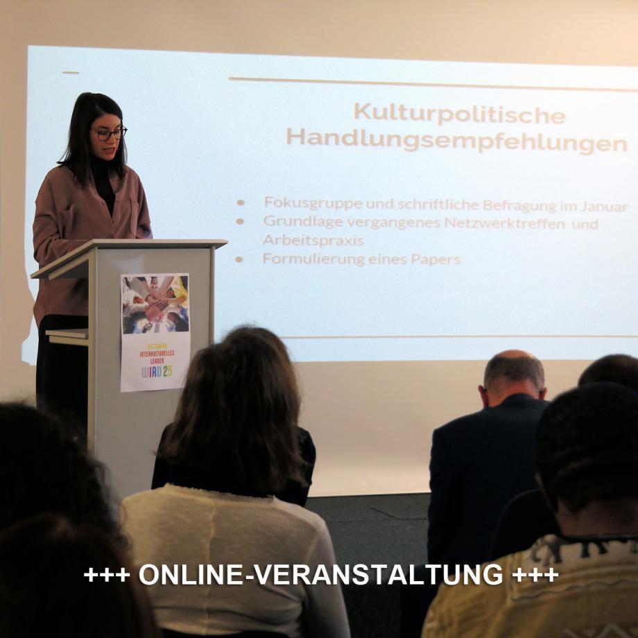 Fatima Çalışkan beim Netzwerktreffen Interkultur Ruhr, Oberhausen, Januar 2020. Foto: Guido Meincke