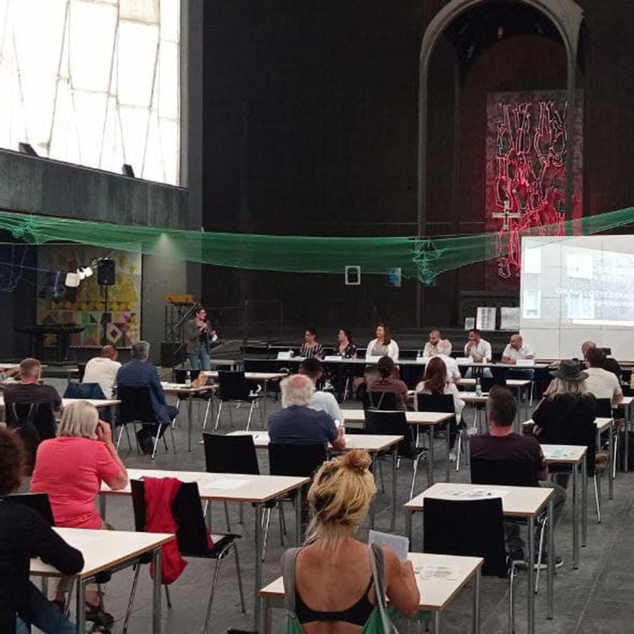 Podiumsveranstaltung am 26.07.2021 in der Duisburger Liebfrauen Kulturkirche. Foto: Lena Wiese