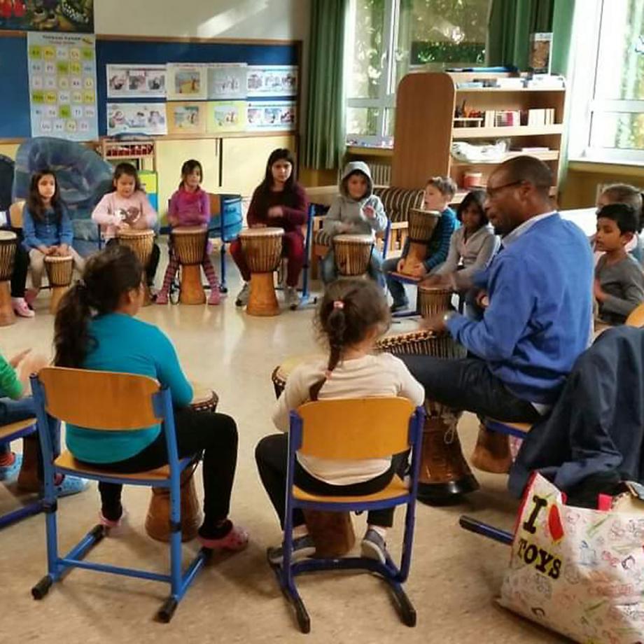 Trommel-Workshop. Foto: Yes Afrika e.V.