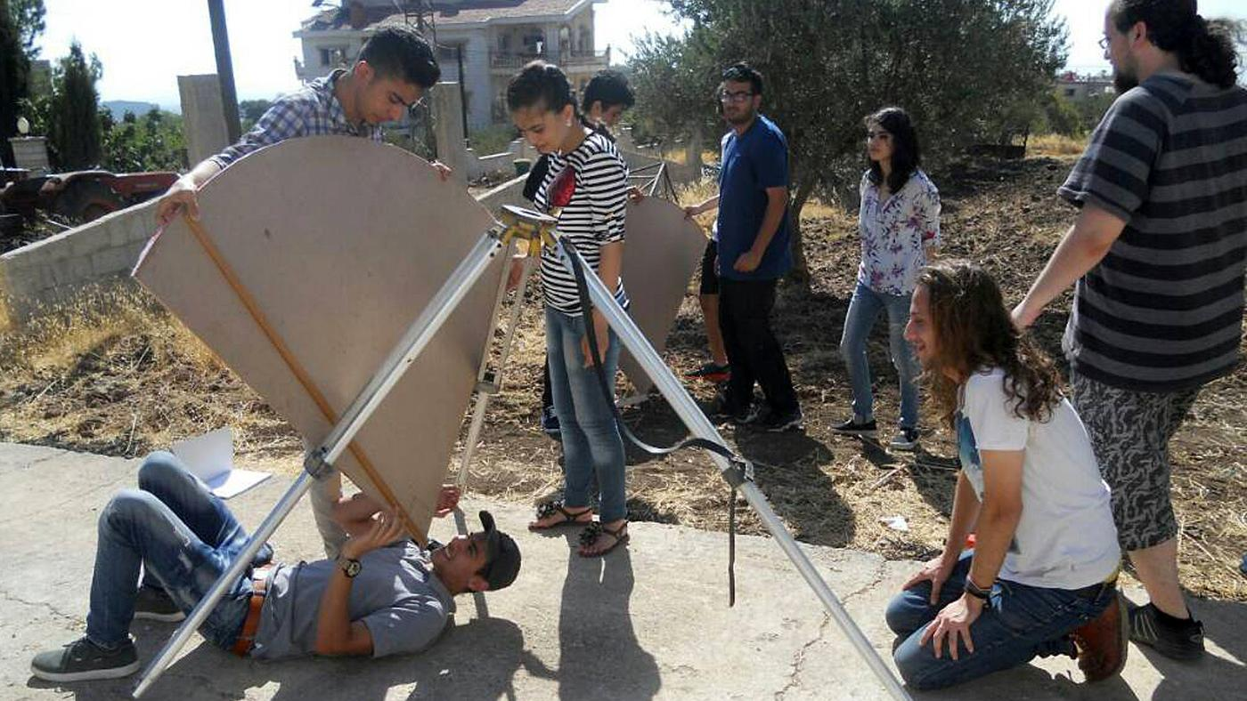 Astronomical measurements open air. Foto: CAS – Center for Advanced Science